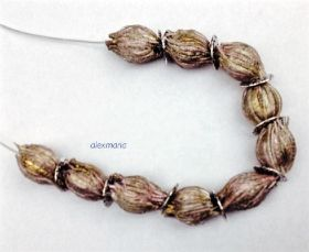 Hollow bead Illumination lines necklace!!