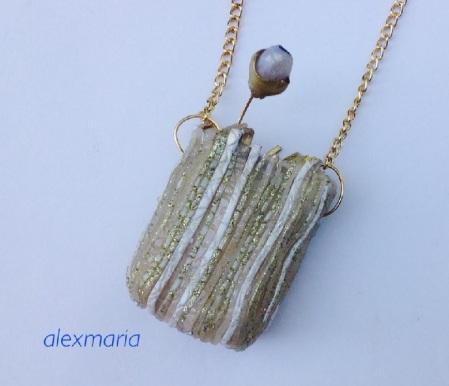 Two new pendants using premo translucent, transparent liquid and pearlex! 1
