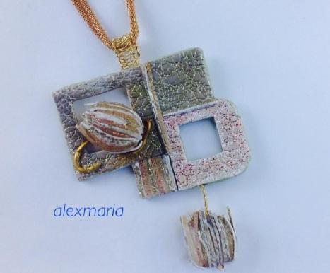 Two new pendants using premo translucent, transparent liquid and pearlex! 2